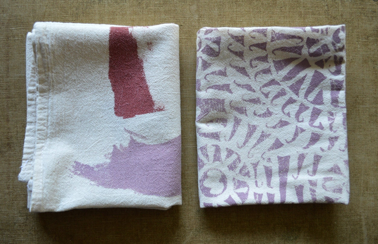 Set Of Two Cotton Kitchen Towels