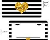 License Plate Frame, License Plate, Monogram Plate, Front License Plate,Personalized License Plate, Custom License Plate,License Plate