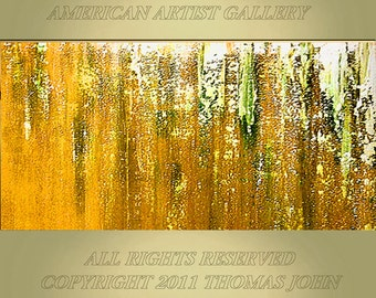 ORIGINAL PAINTING Abstract  Large 24X48  Gallery Wrap Canvas Fine Art By Thomas John
