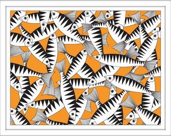 Print – Mackerel