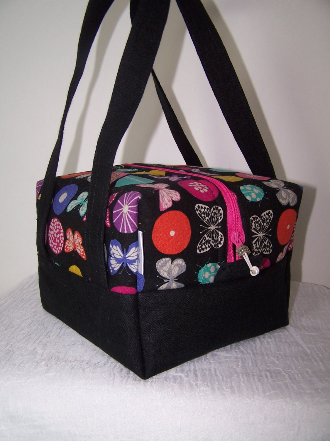 butterfly lunchbox bento box lunch bag insulated zipper. Black Bedroom Furniture Sets. Home Design Ideas
