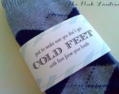 Don't get COLD FEET - Sock Wrapper for the groom from your bride - READY to ship
