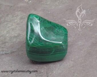 Malachite Tumbled Gemstone Crystal - Large Size 30mm (MAL0017)