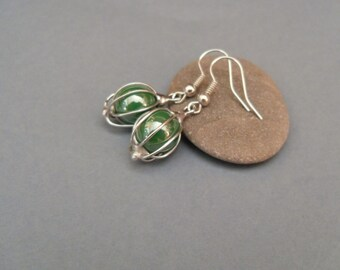 Copper wire earrings, gift for her, contemporary jewelry, wire earrings, unusual jewelry, artistic jewelry, modern earrings, Spring
