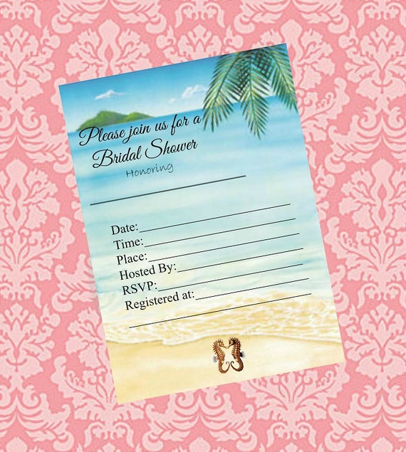 Items similar to bridal shower invitations printable for Bridal shower fill in invitations