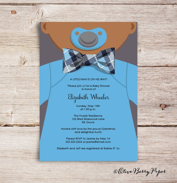 Bow Tie Invitations