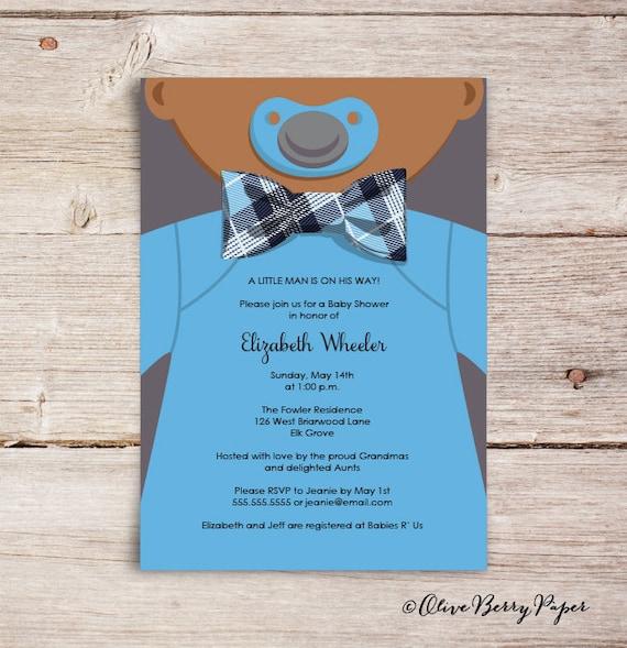 Bow Tie Invitations