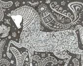 Line drawing HORSE // black and white original art by Elisaveta Sivas // 5,9 x 8,3' (14,9 x 21 cm)