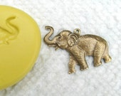 Happy ELEPHANT mold with bail hole -  non-toxic flexible silicone mold/  mould, great for FIMO, clay, soap etc