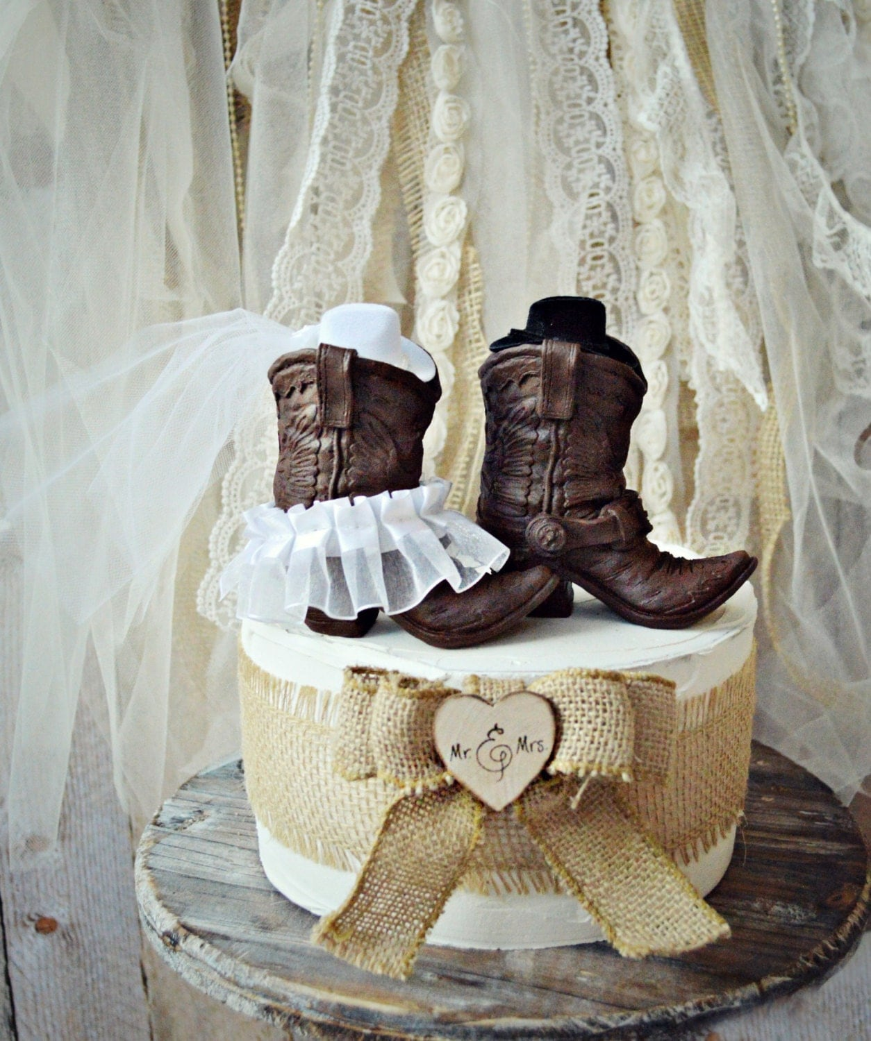 cowboy themed wedding cake toppers cowboy boots wedding cake topper western themed wedding 13026