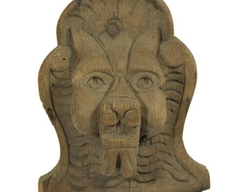 Wood carved lion