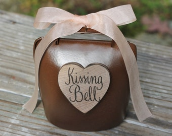 Kissing Bell Rustic Wedding Shabby Chic Custom Ribbon Color