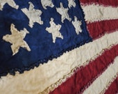 American Flag Rag Quilt ***FREE SHIPPING!!