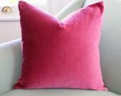 Pink Blush Velvet Cushion Pillow Cover 20 Inch