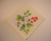 Design Dresser Scalloped Edge Vintage cloth napkin flowers