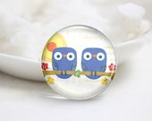 10mm 12mm 14mm 16mm 18mm 20mm 25mm 30mm Handmade Round  Photo Glass Cabochon Dome Owl Pattern Glass Cabs    (P2560)