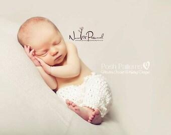 Crochet PATTERN - Baby Pants Crochet Pattern - Crochet Pattern Baby - Includes 4 Sizes Newborn to 12 Months - Photo Prop Pattern - PDF 303