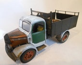 Scale Model English Truck in White Rusted and Wrecked from Classicwrecks