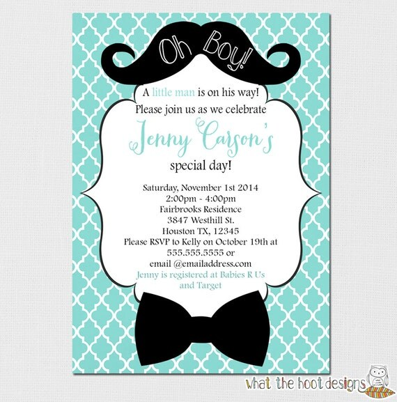 Little Man Baby Shower Invitations as amazing invitations sample