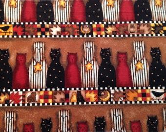 5 Yards Debbie Mumm Cats Fabric Border  - OOP