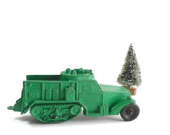 Vintage Auburn Toy Truck - WWII Half Track - Collectible Military Toy Vehicle - Home Decor - Made In USA