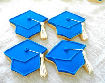 Graduation cap Mortarboard Decorated sugar cookies (#2394)