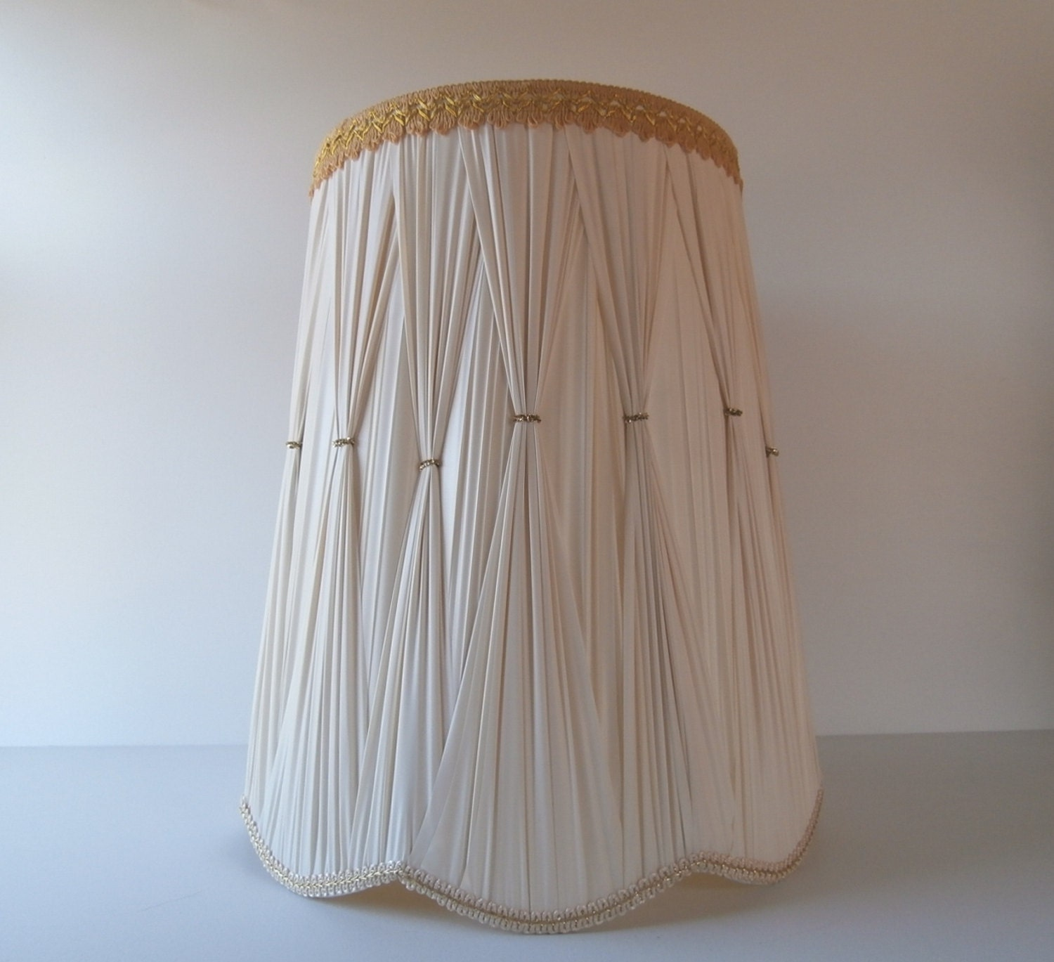 Large mid century lamp shade large drum shade plastic lamp for Wide drum lamp shade