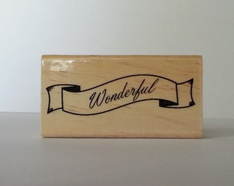 Wonderful  Wooden Mounted Rubber Stamping Block DIY cards, scrapbooking, tags, Invitations, Greeting Cards, and Scrapbooking