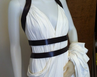 Queen Gorgo Backless Dress--- Greek Godess, Persian Gown, Backless Dress, Wrap Dress, Fantasy, Cosplay