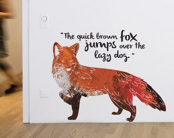 Quick Brown Fox Removable Wall Sticker