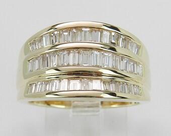 1.50 ct Diamond Wedding Ring Anniversary Band 14K Yellow Gold Size 6.75 G VS