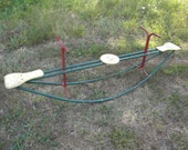 scarce good solid shape vintage TEETER TOTTER SEE saw playground equipment toy   pick up only