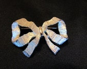 Sarah Coventry Silver Bow Lapel Pin or Brooch