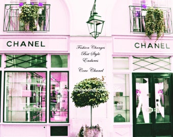 Chanel Art,Pink Print,Pastel Pink Picture,Coco Chanel,Fashion Quote,Fashion Photography,Purple,Paris Photography,French Nursery,Paris Home