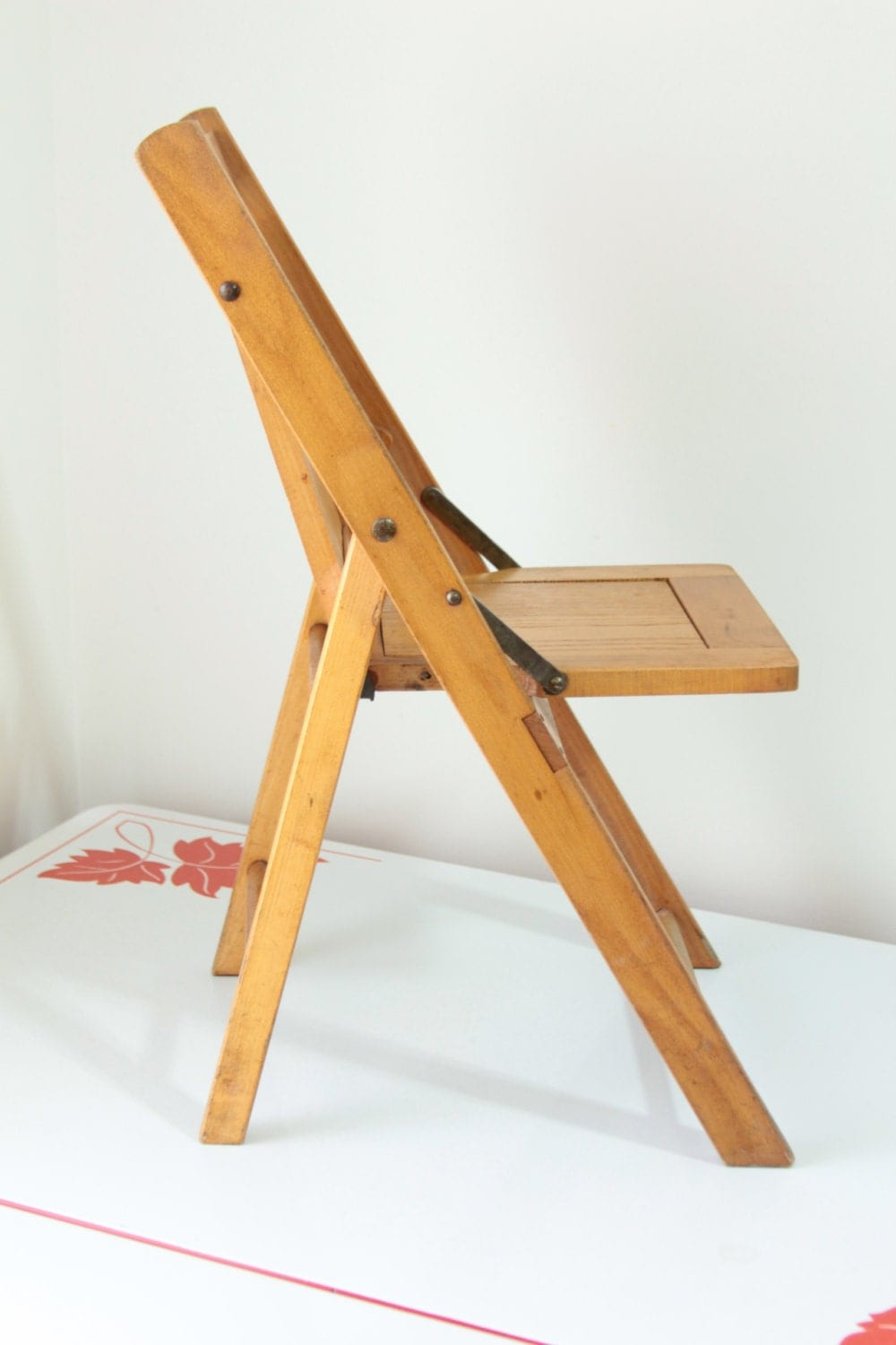 Vintage Wooden Folding Childs Chair