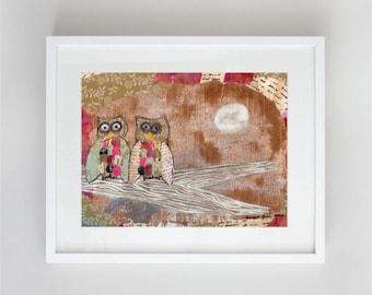Owls Children's Whimsical Nursery Art Print