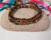 Mens beaded bracelet, mens rustic bracelets, mens stretch bracelet, set stretch bracelet, mens tribal bracelet