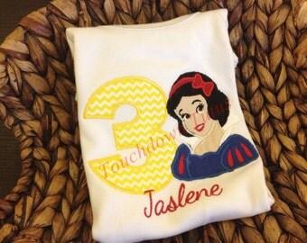 Snow White birthday onesie or top - numbers 1-9