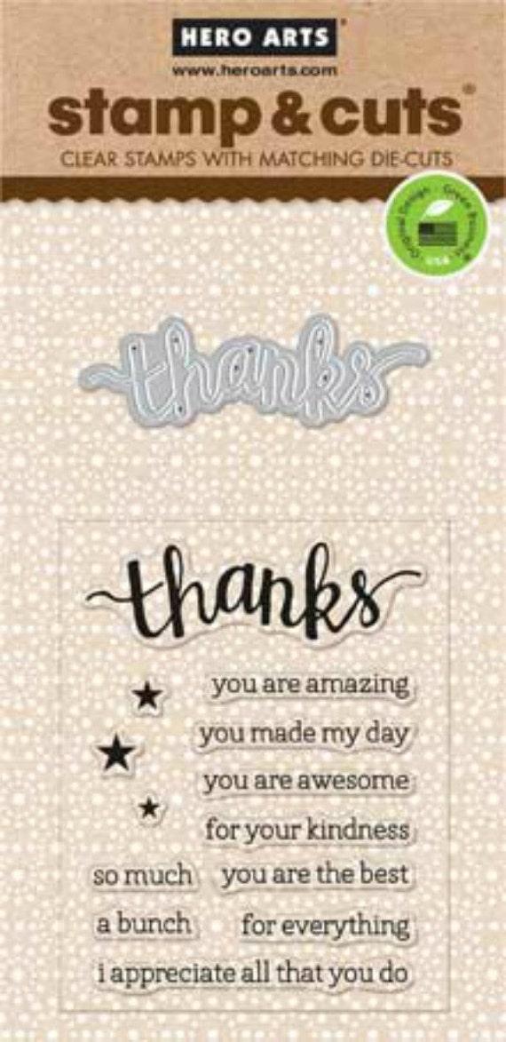 Hero Arts Thanks Stamp Cut DC152 clear stamps die