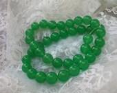 AAA Grade NATURAL Round Green Aventurine Jade Gemstone Beads    10MM