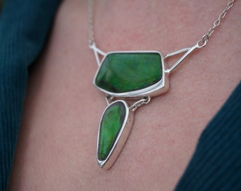 Gaia Sterling Silver Ammolite Necklace