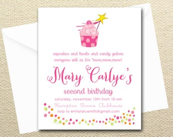 Pinkalicious Personalized Printable Digital Birthday Invitations