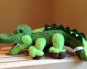 Zipper Mouth Felted Wool Alligator