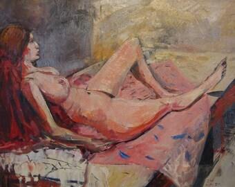 "Figure Painting. Oil on Canvas. 20"" x 16"". Female Nude."