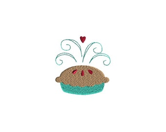 Mini Pie Machine Embroidery Design-INSTANT DOWNLOAD-3 sizes