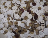 white cream beige brown buttons plastic over 2 pounds sewing crafting