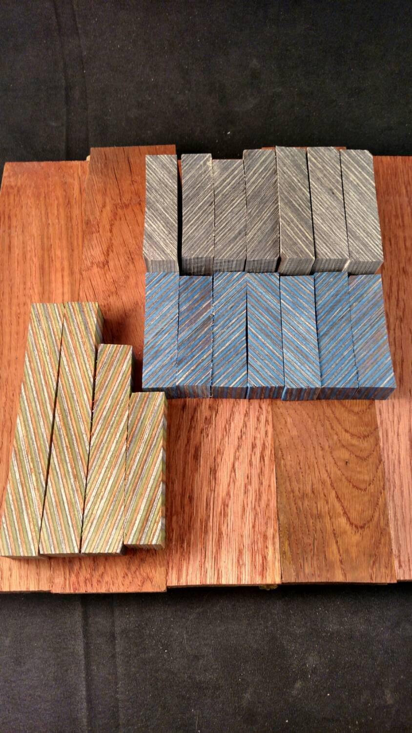 Color wood laminated pen blanks