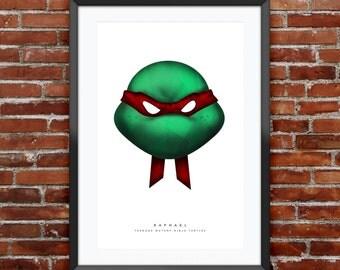 "TMNT  Raphael Print 11X17"""