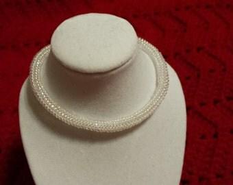 Crystal Herringbone Beaded Bracelet