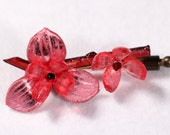 Vintage Mid Century Pin Brooch Floral Hyperrealistic Charming Jewelry